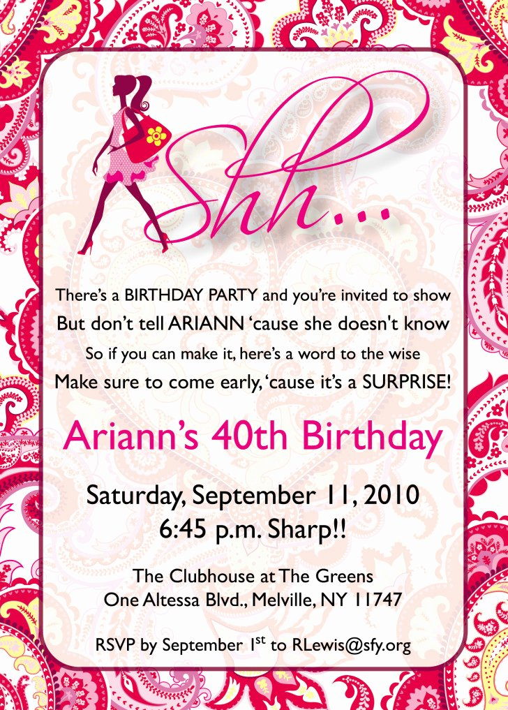 Free Surprise Party Invitations Elegant Free Printable Surprise Birthday Invitations