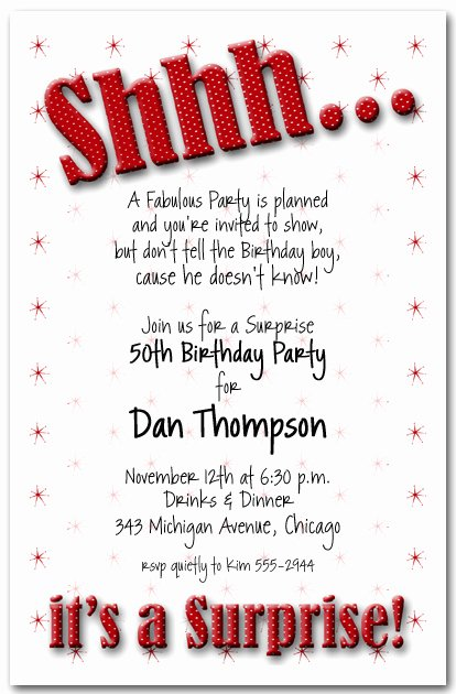 Free Surprise Party Invitations Lovely Shhh Red Polka Dot Surprise Party Invitations