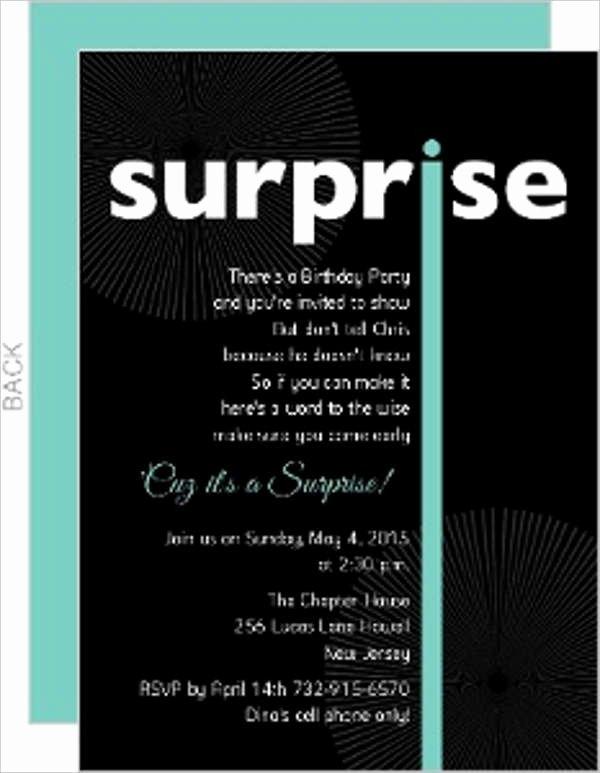 Free Surprise Party Invitations New 15 Birthday Invitation Templates In Pdf