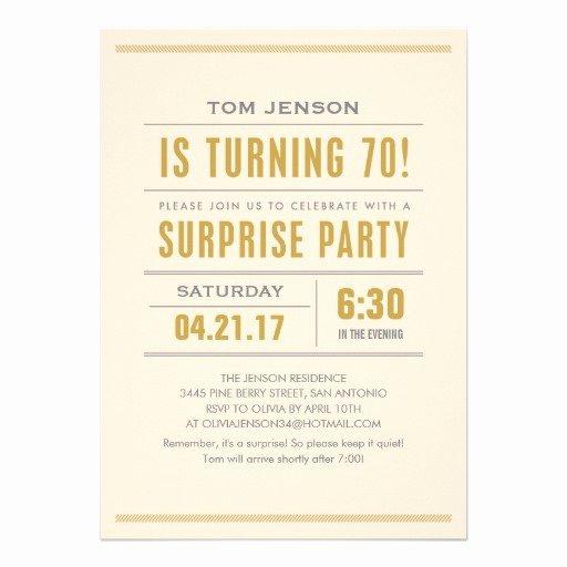 Free Surprise Party Invitations New Surprise 70th Birthday Party Invitations Free Invitation