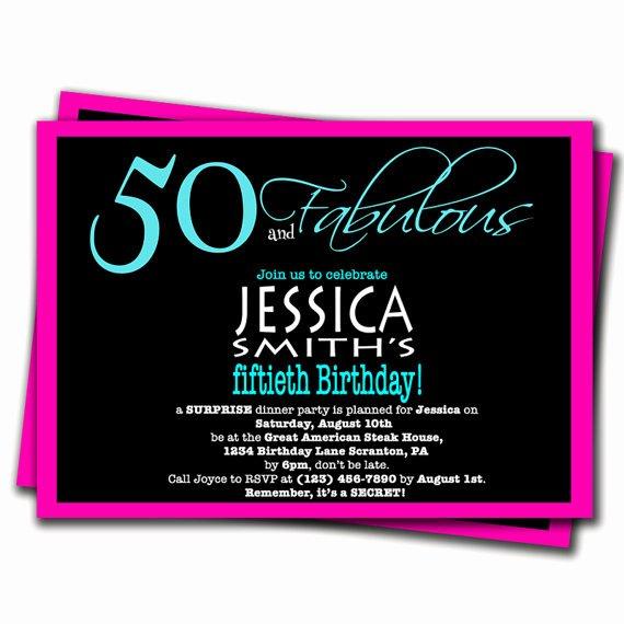 Free Surprise Party Invitations Unique 50th Surprise Birthday Party Invitations