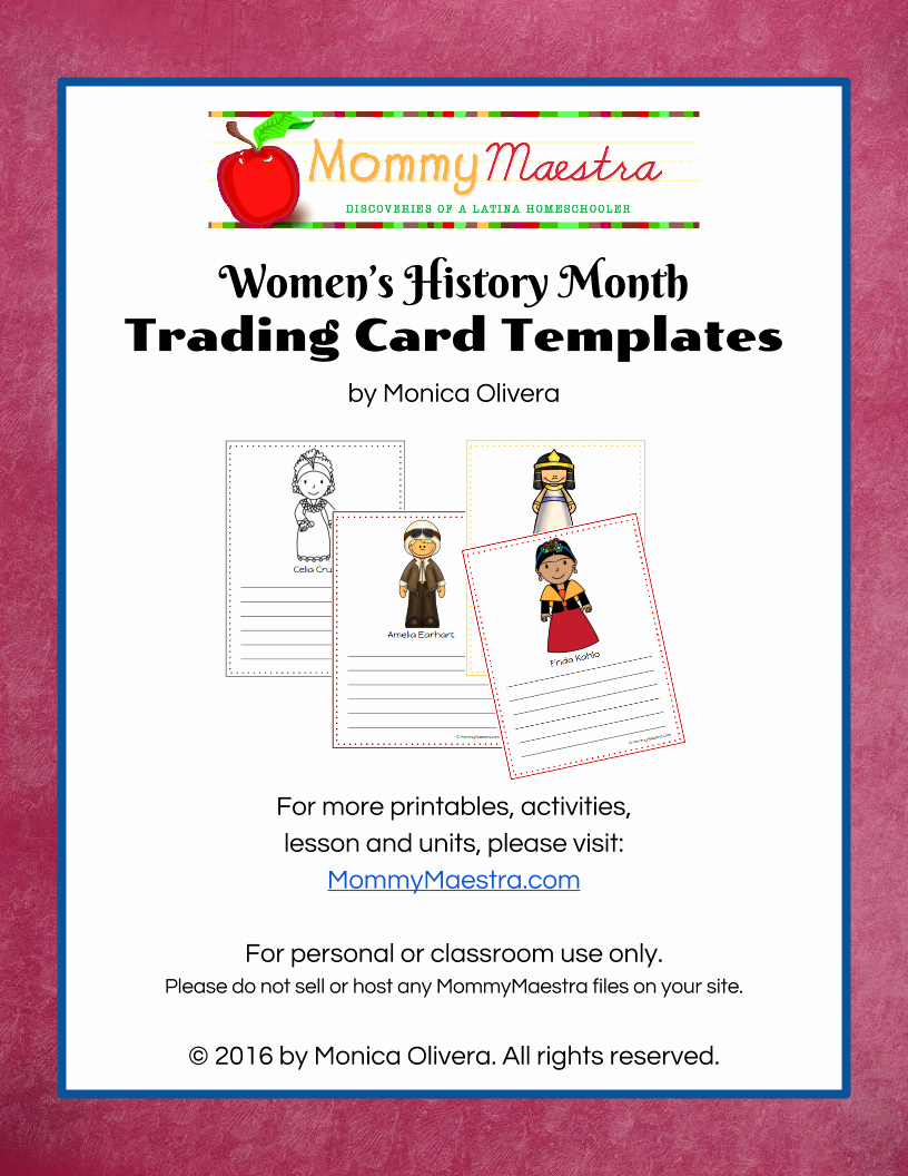 Free Trading Card Template Download Beautiful Mommy Maestra Free Download Women In World History Trading Cards Template