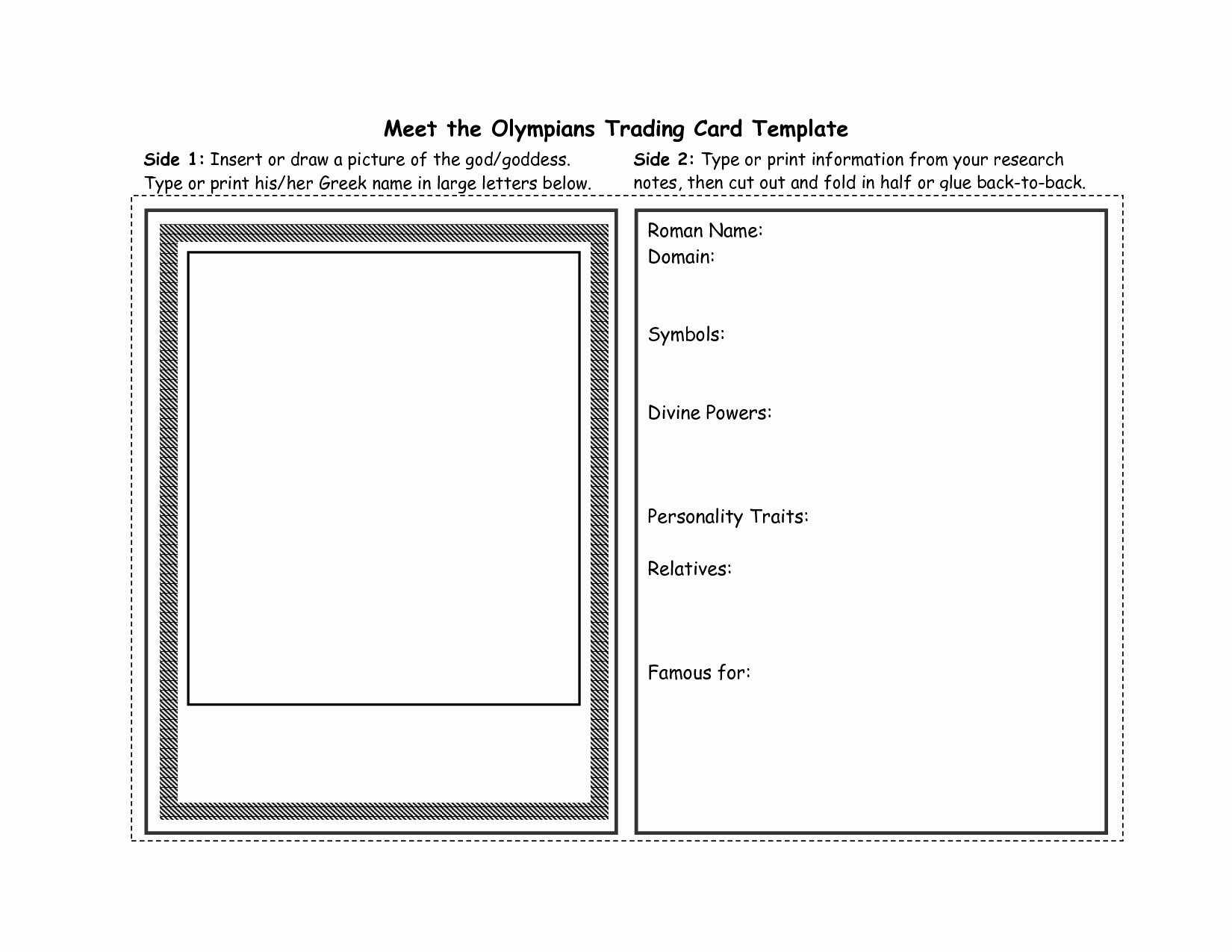 Free Trading Card Template Download Best Of Trading Card Template 2017