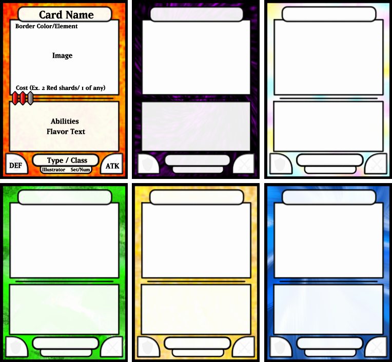 Free Trading Card Template Download New Board Game Card Template