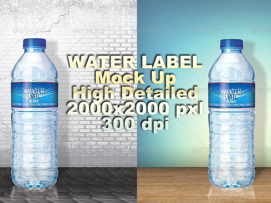 Free Water Bottle Label Template Awesome 53 Label Design Templates