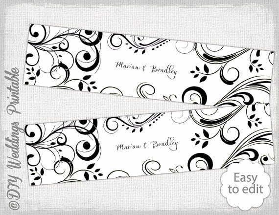 Free Water Bottle Label Template Beautiful Diy Water Bottle Label Template Black and White