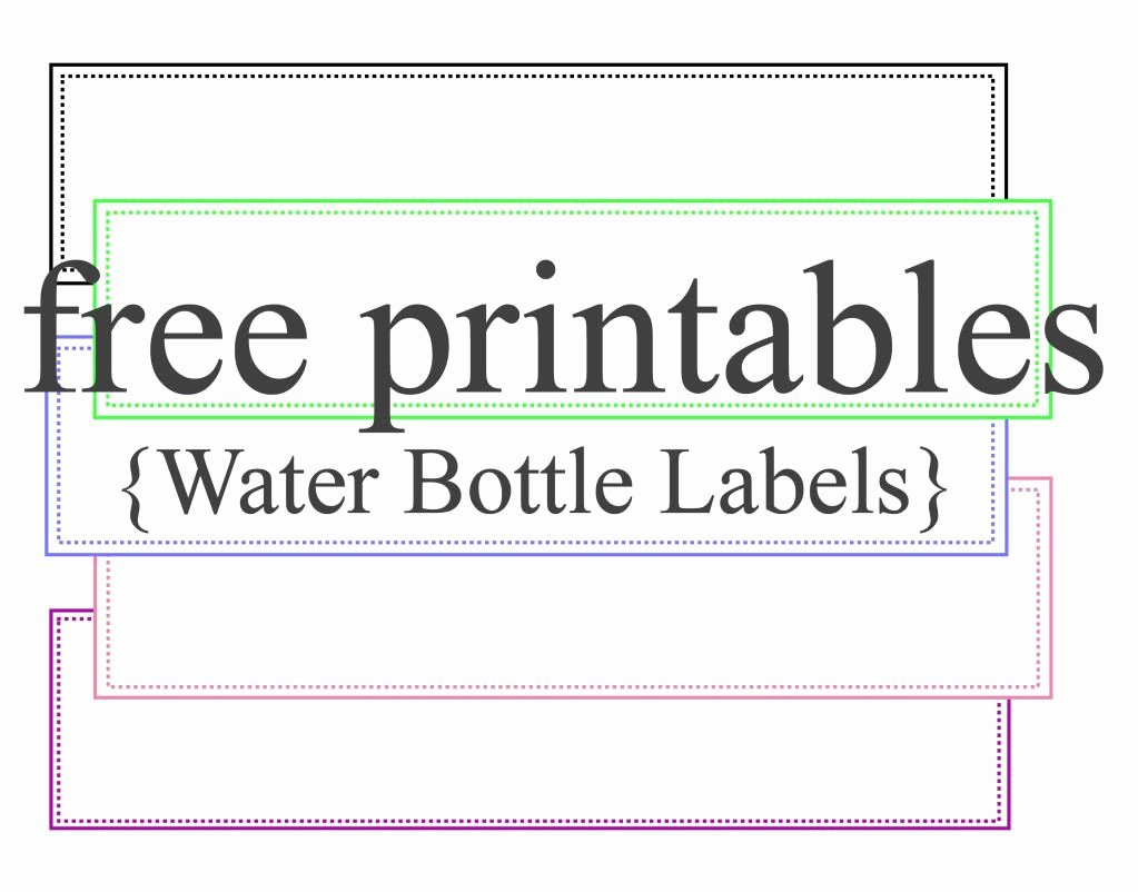 Free Water Bottle Label Template Beautiful Water Bottle Labels Free Printables Party Ideas Pinterest