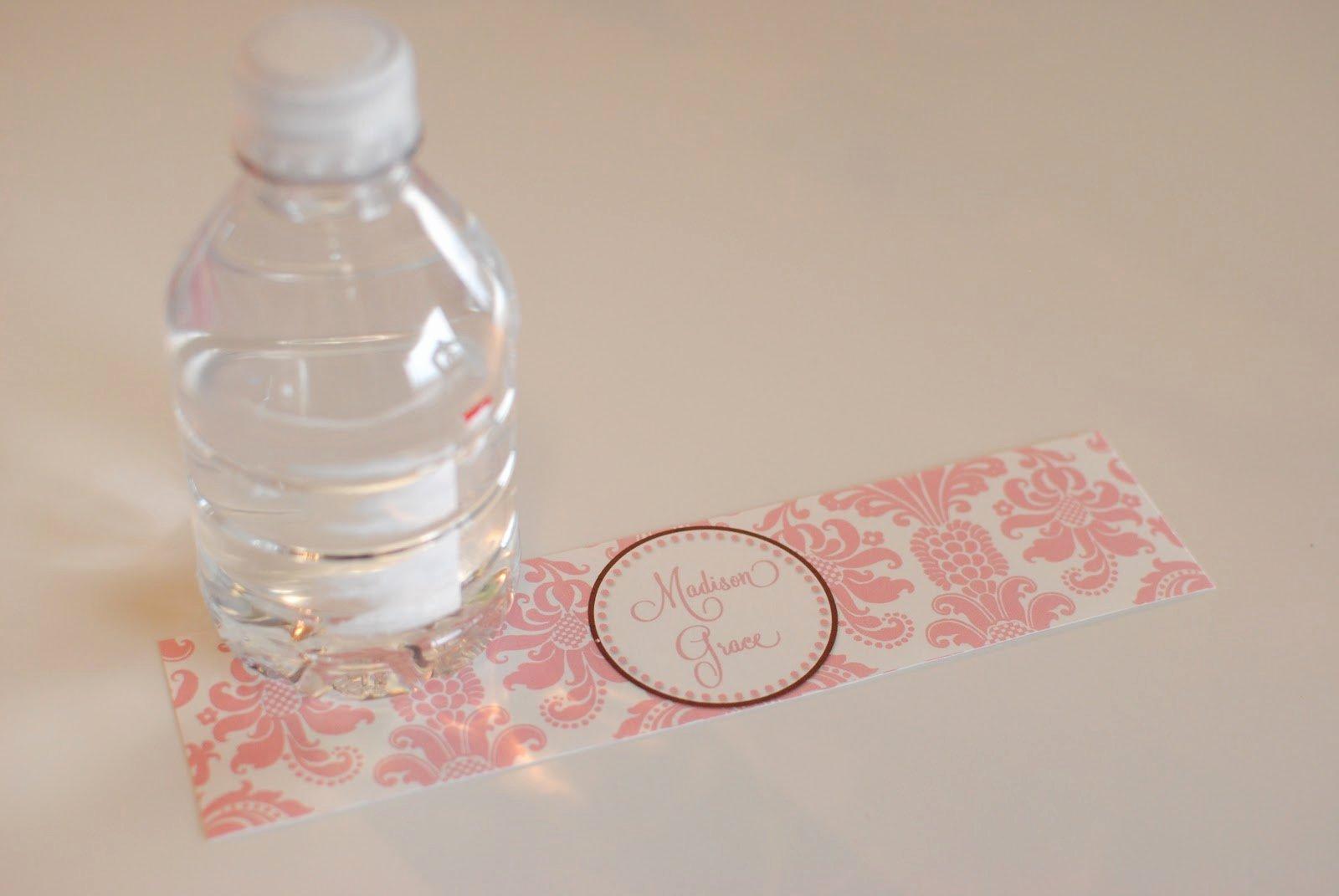 Free Water Bottle Label Template Fresh Water Bottle Labels Template
