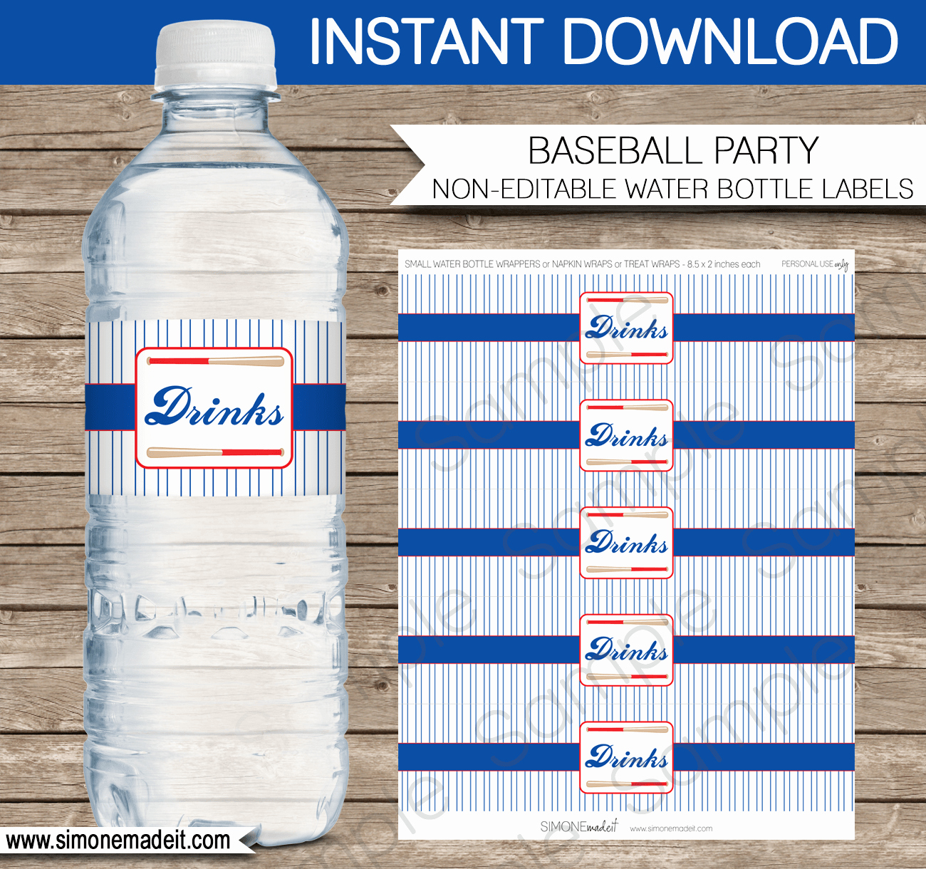 Free Water Bottle Label Template Inspirational Baseball Water Bottle Labels