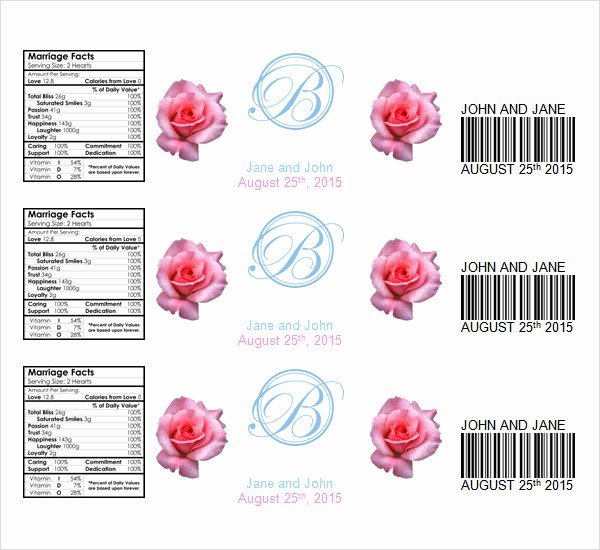 Free Water Bottle Label Template Lovely Free 22 Sample Water Bottle Label Templates In Psd Word