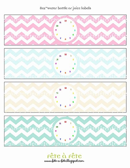"""Free Water Bottle Label Template New Fête à Fête """"time Flies"""" Rainbow Collection Hot Off the Press"""