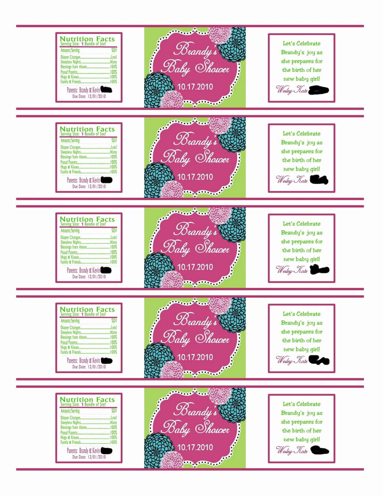 Free Water Bottle Label Template New southern Inspirations How to Make Water Bottle Labels