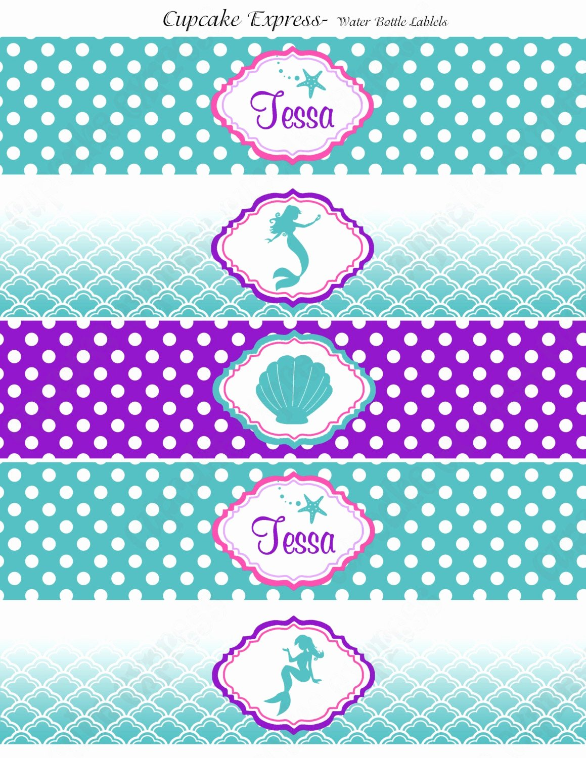 Free Water Bottle Labels Awesome Ariel Inspired Water Bottle Labels Little Mermaid Birthday