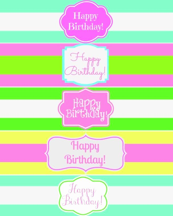 Free Water Bottle Labels Best Of Free Printable Happy Birthday Water Bottle Label Wraps