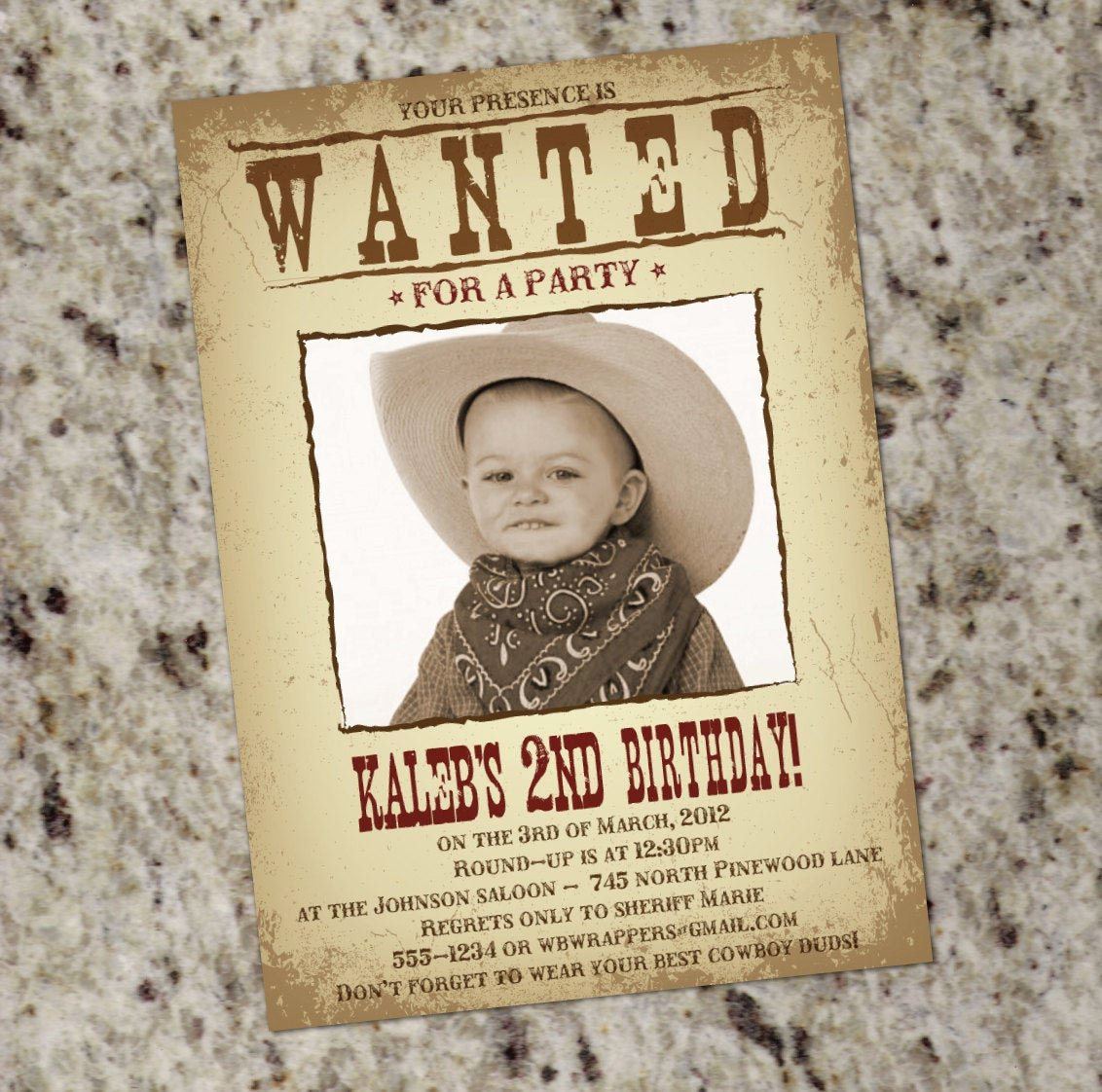 Free Western Invitation Templates Best Of Wanted Poster Western themed Party Invitation Printable