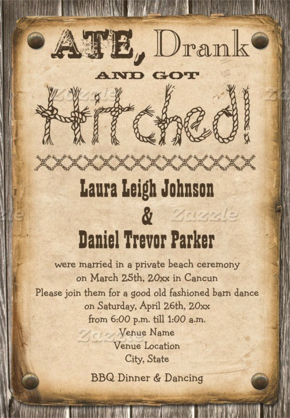 Free Western Invitation Templates Fresh 28 Western Wedding Invitation Templates – Free Sample Example format Download