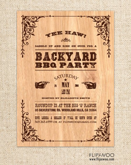 Free Western Invitation Templates Inspirational Flipawoo Invitation and Party Designs Western themed Invitations