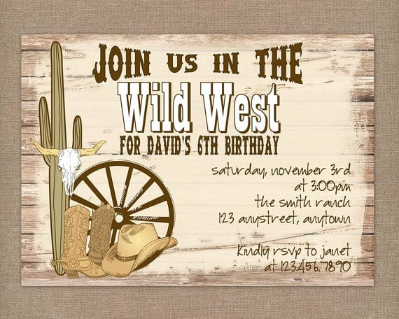Free Western Invitation Templates Inspirational Western Party Invitations Printable