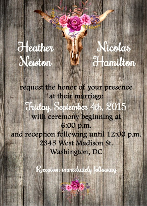 Free Western Invitation Templates Luxury 28 Western Wedding Invitation Templates – Free Sample Example format Download