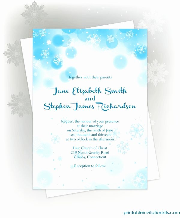 Free Winter Wonderland Invitations Templates Awesome Free Pdf Download Snowflakes Winter Invitation for Winter