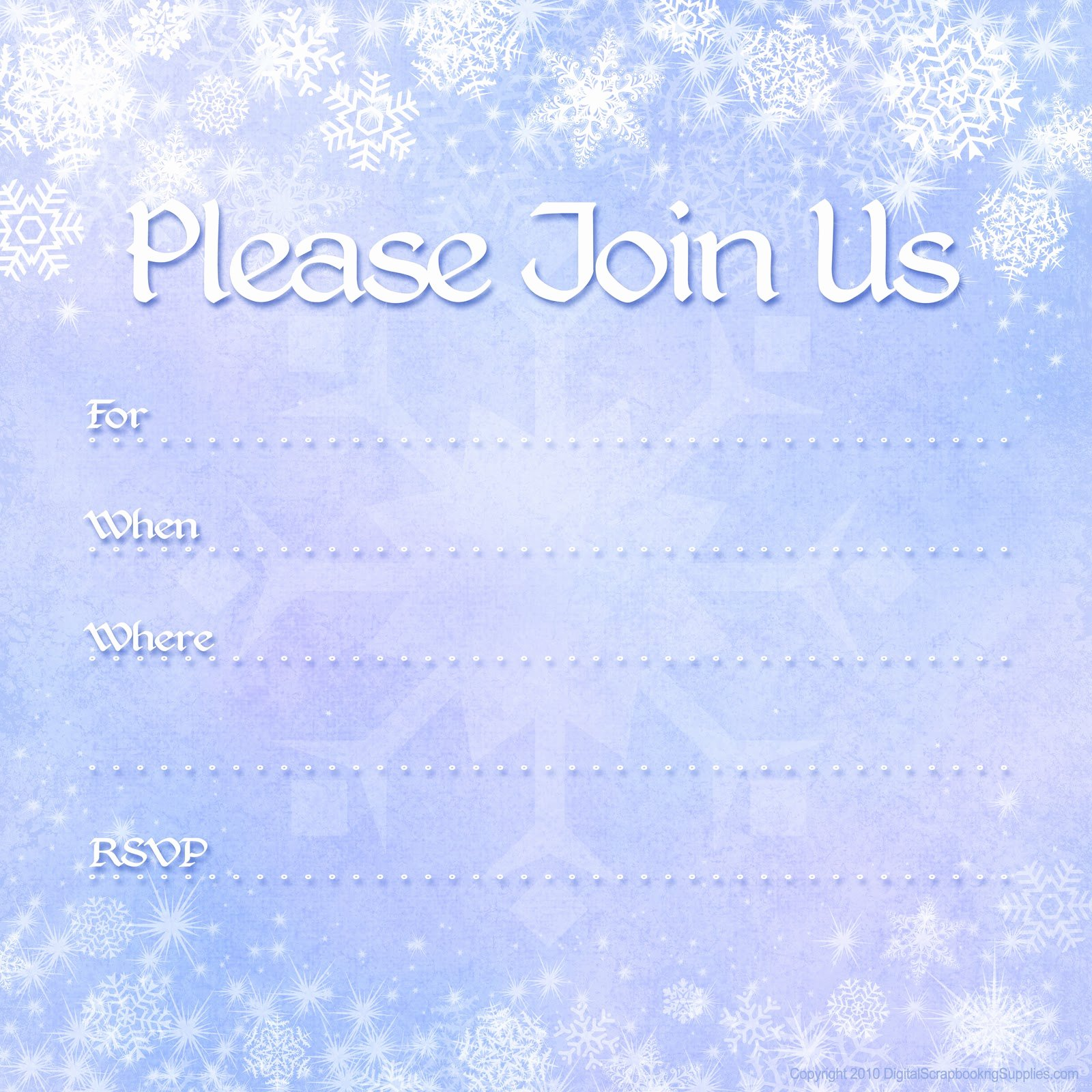 Free Winter Wonderland Invitations Templates Awesome Free Printable Party Invitations Free Winter Holiday
