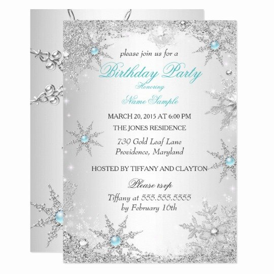 Free Winter Wonderland Invitations Templates Awesome Teal Winter Wonderland Birthday Party Invitation