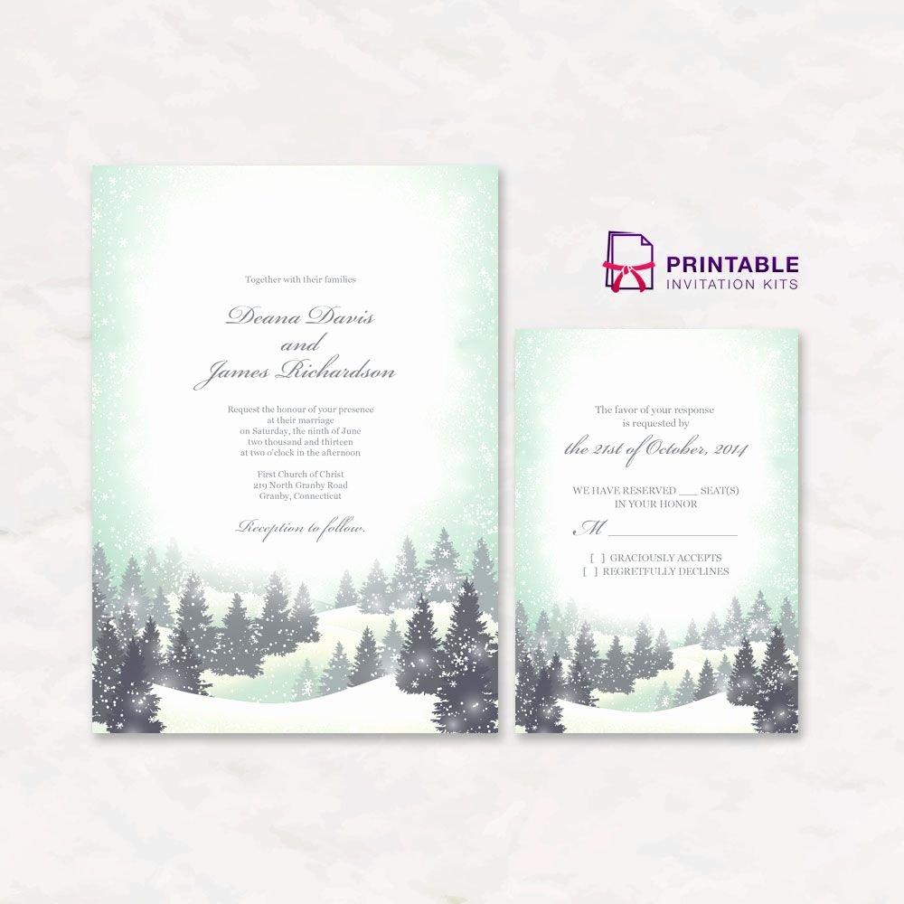 Free Winter Wonderland Invitations Templates Beautiful Free Pdf Download Winter Wonderland Wedding Invitation