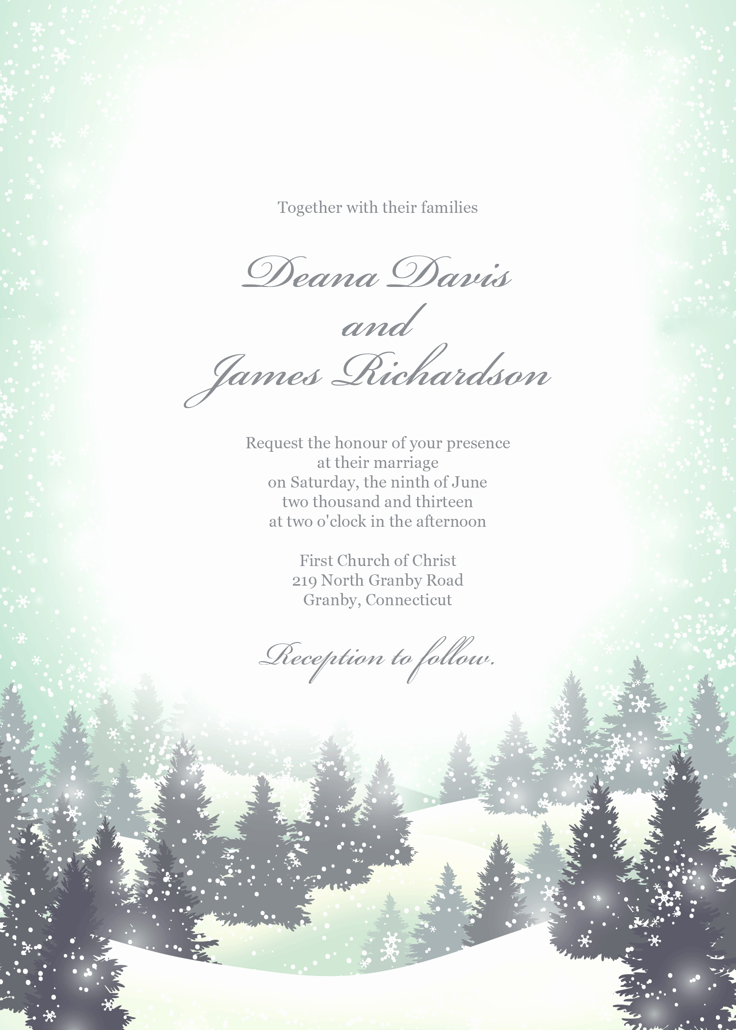 Free Winter Wonderland Invitations Templates Elegant Free Pdf Invitation Template Winter Wonderland Can Also