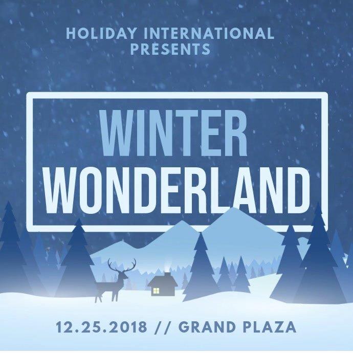 Free Winter Wonderland Invitations Templates Elegant Minimalist Winter Wonderland Invitation Animation Template