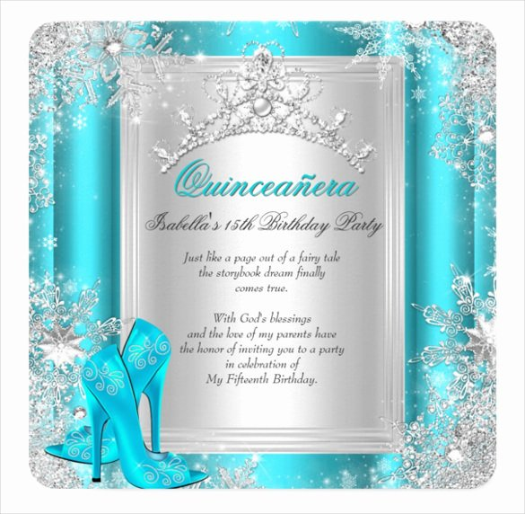 Free Winter Wonderland Invitations Templates Fresh 20 Quinceanera Invitation Templates Word Psd Ai Eps