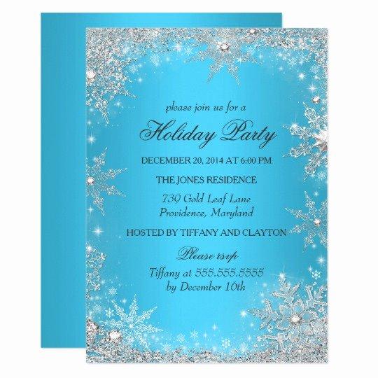 Free Winter Wonderland Invitations Templates Fresh Blue Winter Wonderland Christmas Holiday Party Invitation