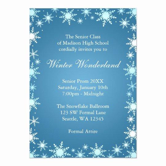 Free Winter Wonderland Invitations Templates Lovely Winter Wonderland Prom Invitations