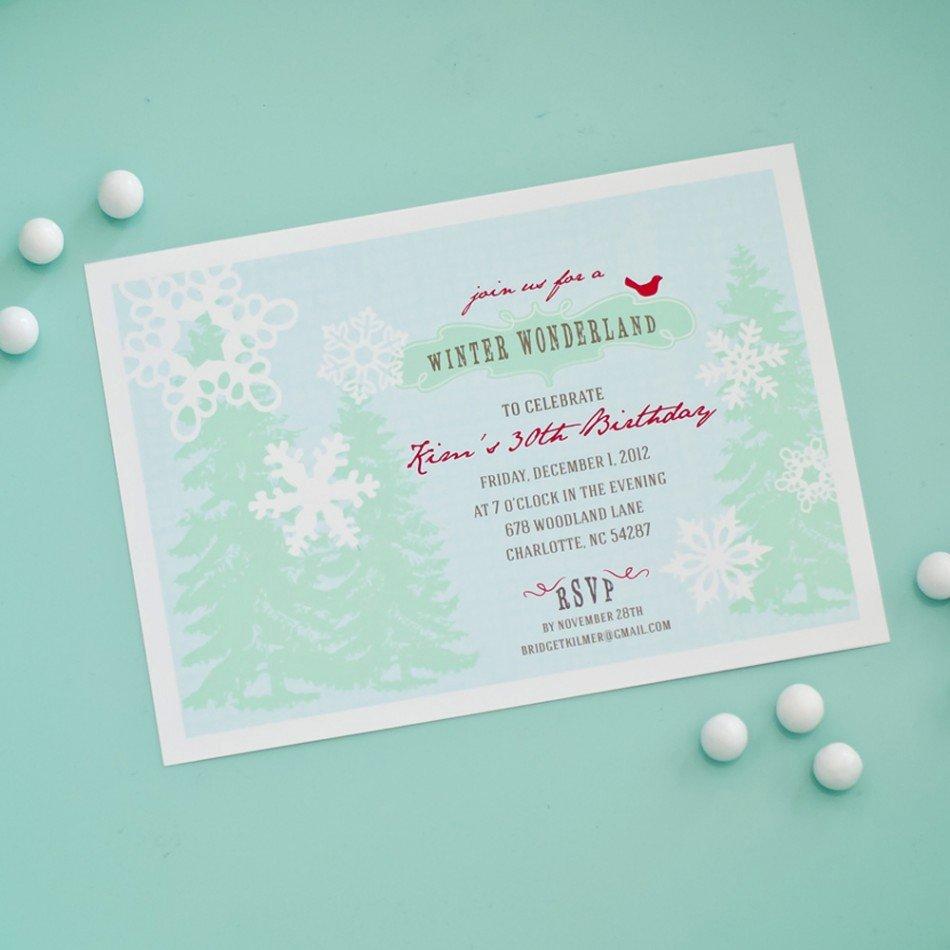 Free Winter Wonderland Invitations Templates New 40th Birthday Ideas Free Winter Birthday Invitation Templates