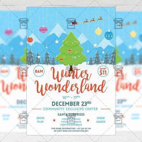 Free Winter Wonderland Invitations Templates New Winter Wonderland Flyer – Seasonal A5 Template