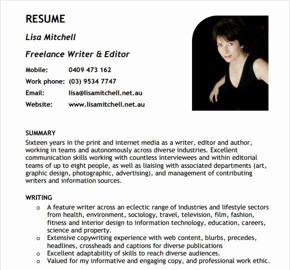 Freelance Writer Resume Sample Beautiful Resume Education Examples