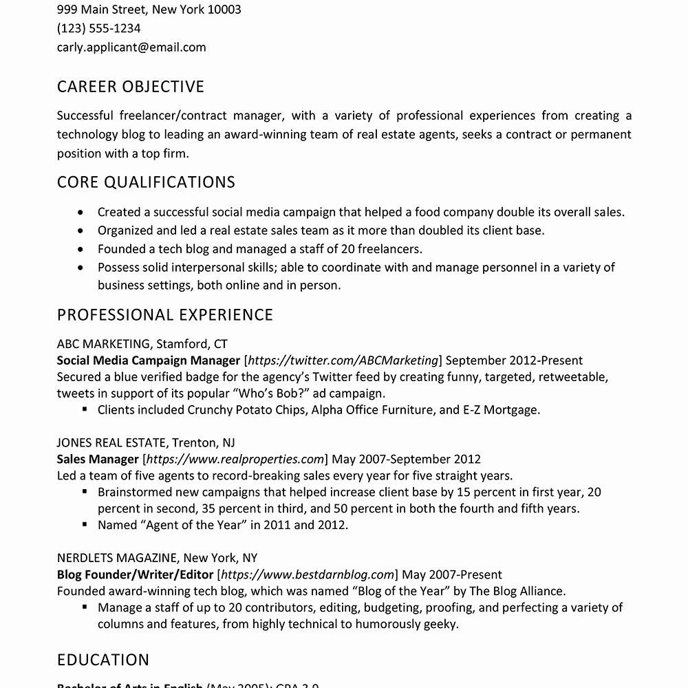 Freelance Writer Resume Sample Luxury How to List Freelance Jobs On A Resume
