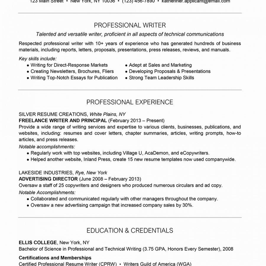 Freelance Writer Resume Sample Unique Freelance Writing Resume Template
