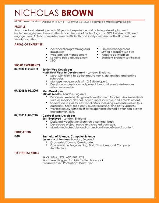 Front End Web Developer Resume Luxury 12 13 Resume Examples Web Developer