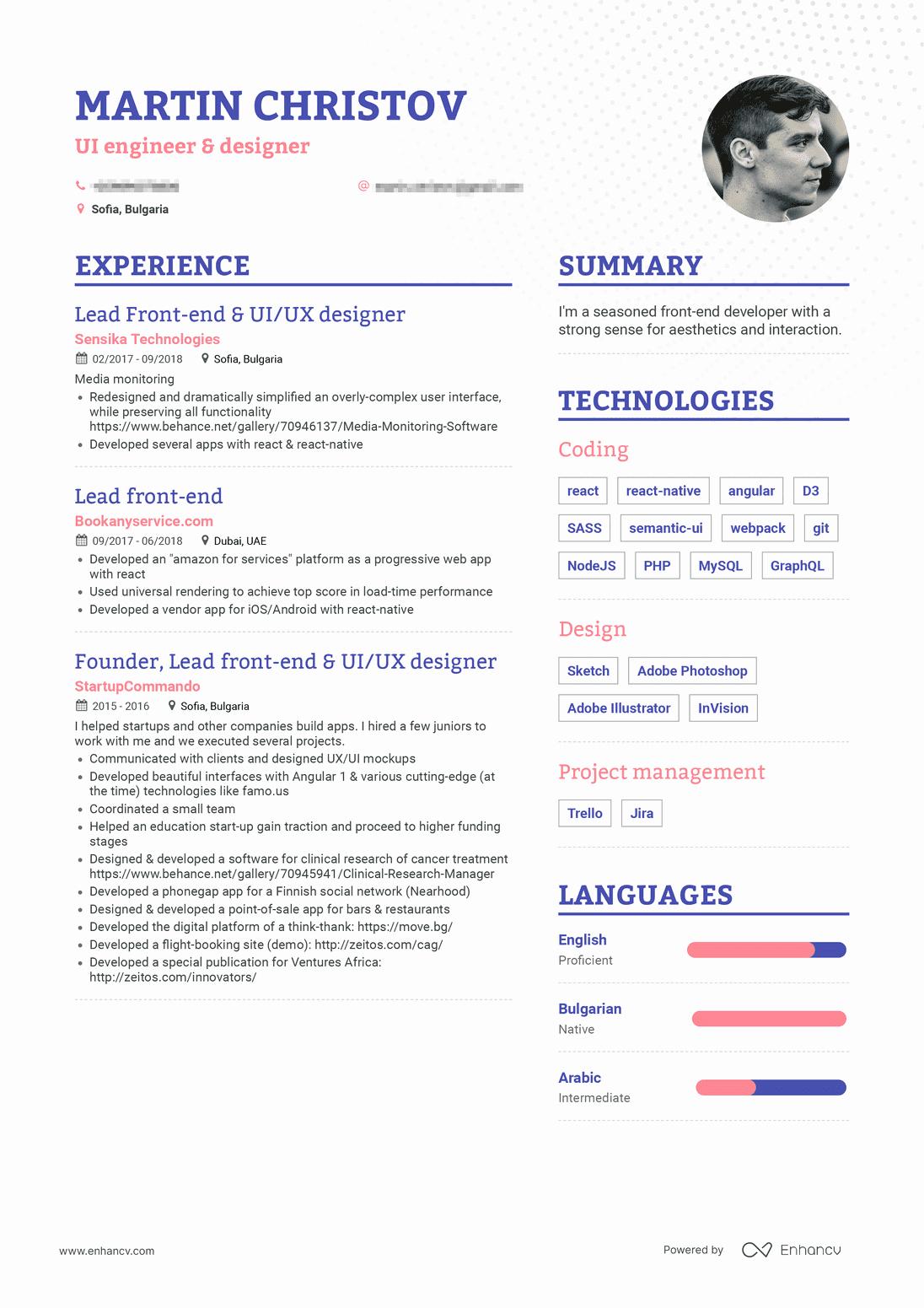 Front End Web Developer Resume New Real Front End Developer Resume Example