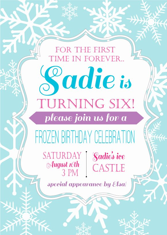 Frozen Bday Party Invitations Awesome Frozen Birthday Party