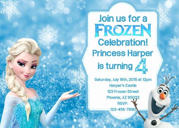 Frozen Bday Party Invitations Beautiful 12 Frozen Birthday Invitation Psd Ai Vector Eps