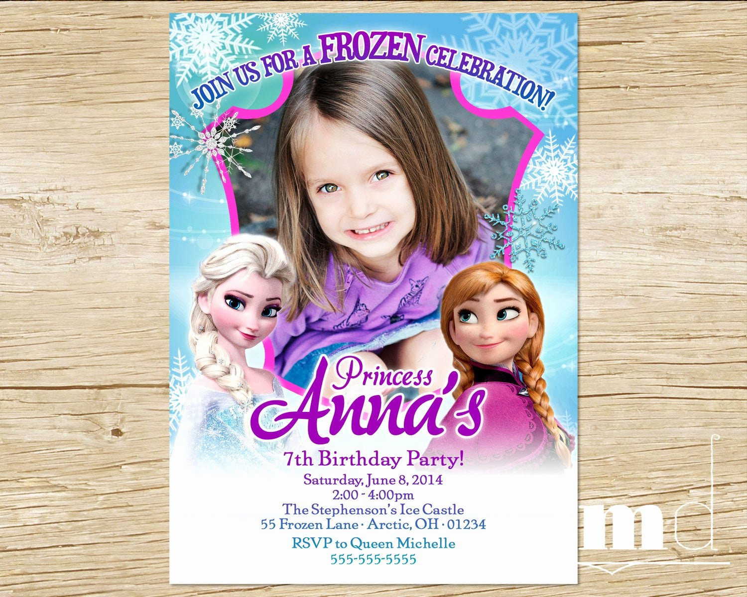 Frozen Bday Party Invitations Elegant Frozen Birthday Party Invitation with by Mulligandesign