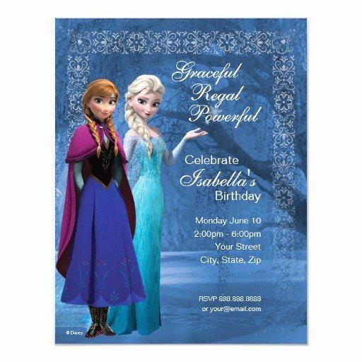 "Frozen Bday Party Invitations Fresh Frozen Anna and Elsa Snowflake Birthday Invitation 4 25"" X 5 5"" Invitation Card"