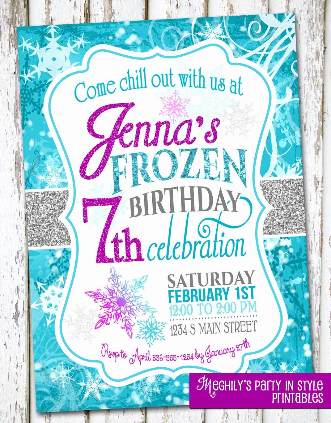 Frozen Bday Party Invitations Fresh Frozen Birthday Invite