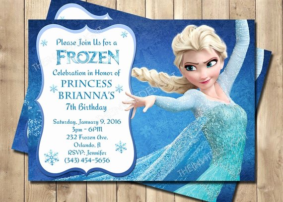 Frozen Bday Party Invitations Inspirational Frozen Birthday Invitation Frozen Princess Elsa Invite