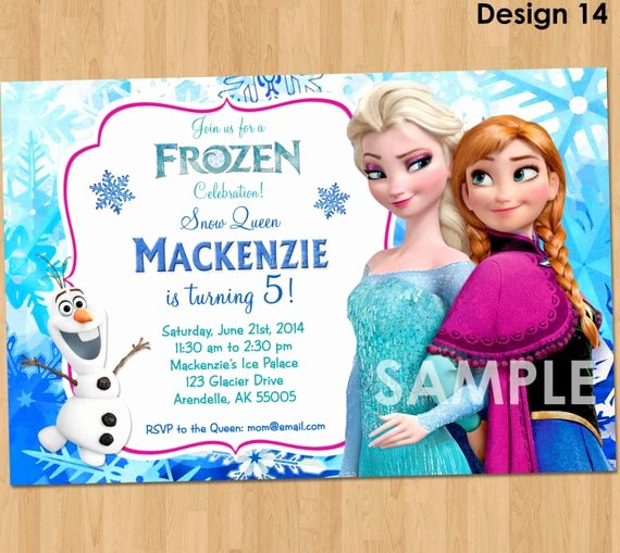Frozen Bday Party Invitations Inspirational Frozen Invitation Disney Frozen Invitation Printable