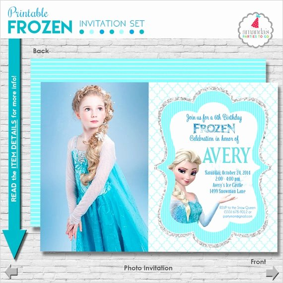 Frozen Bday Party Invitations Luxury Frozen Birthday Invitation Printable Frozen Party Invitation