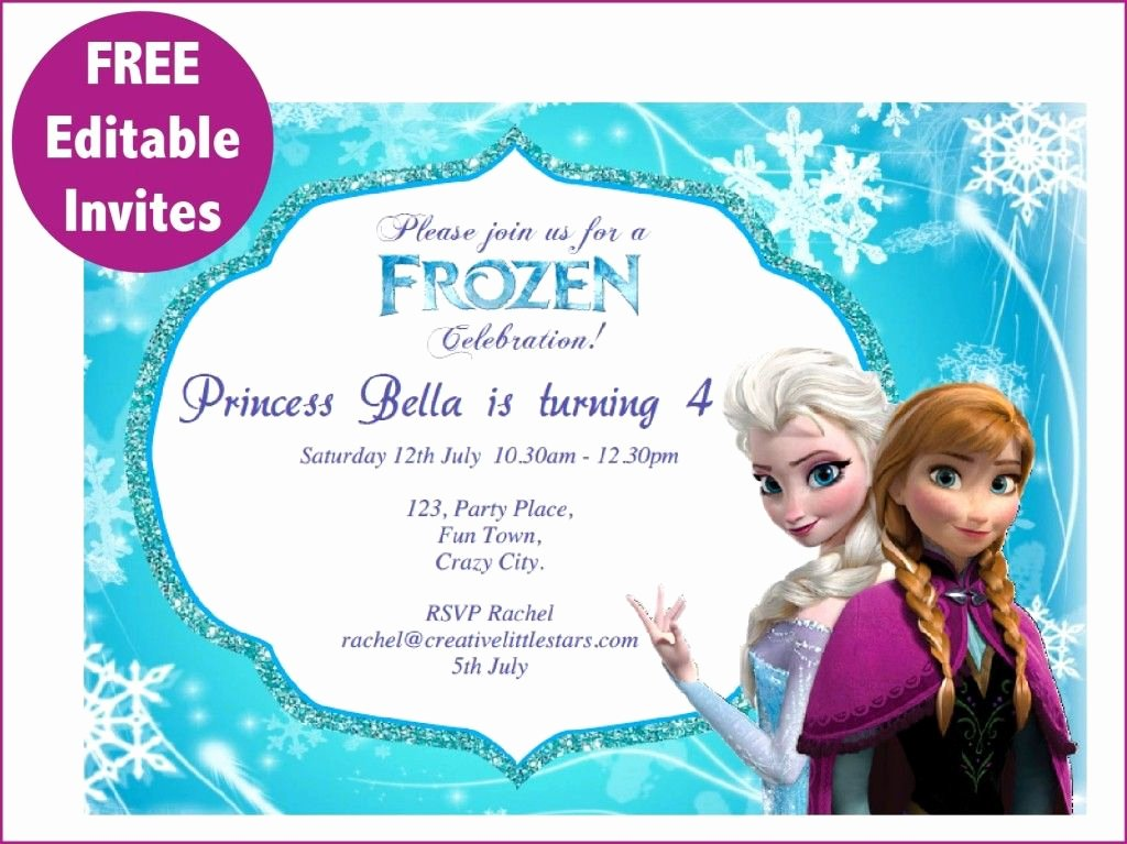 Frozen Bday Party Invitations Luxury Frozen Free Printable Invitations Templates Cakes