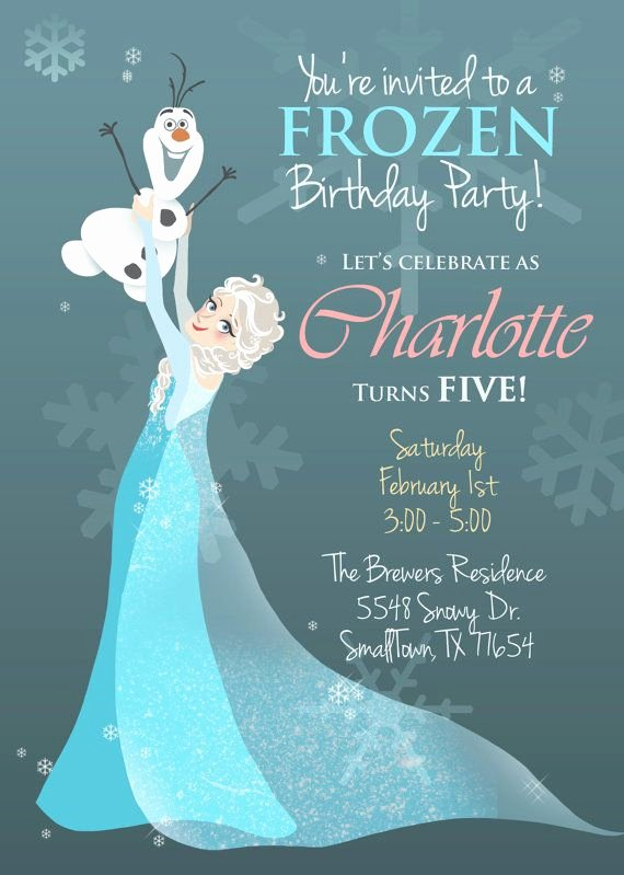 Frozen Bday Party Invitations Luxury Frozen Illustrated Invitation Printable Pdf