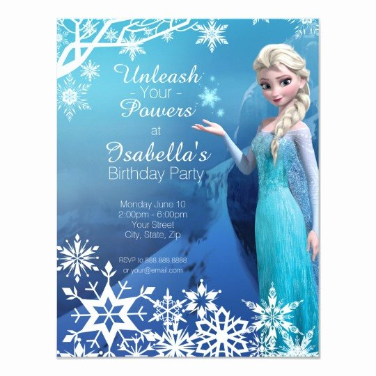 Frozen Bday Party Invitations New Frozen Elsa Birthday Party Invitation
